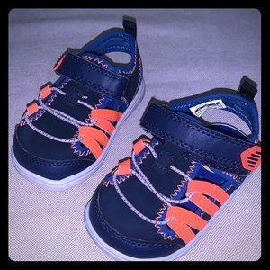Carter'a Baby Boy Blue & Orange Strap Sandals